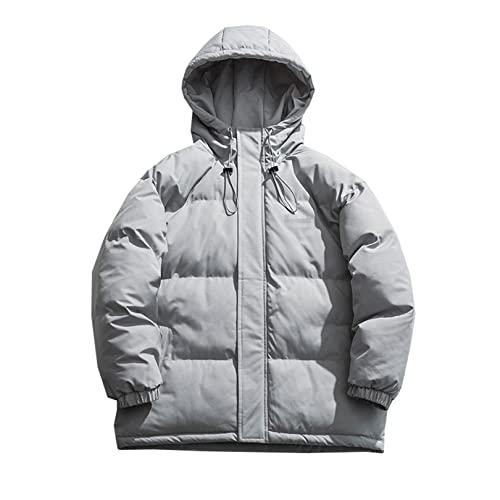 WNG Męskie zimowe nowe koreańskie ciepłe bawełniane ubrania z kapturem bawełniane ubrania casual luźne chleb ubrania męski płaszcz L niebieski