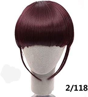 DEPJF Franja corta Clip rubio en flequillo de pelo Peinado Resistente al calor Falso falso Pedazo