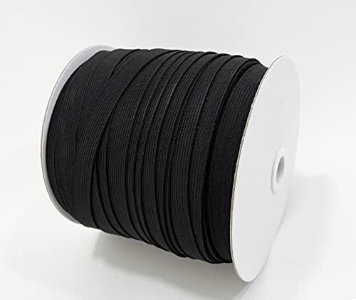 100M Bandas elásticas costura planas fina , total 5 medidas,,para que los clientes tengan dife...