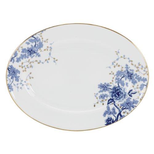 Lenox Garden Grove 5piezas del Lugar vajilla de mesa de porcelana Garden Grove de Lenox Oval Platter, 13-in blanco