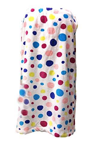 BY LORA Shower Terry Wrap Towel for Women Bath Shower Towels - Multi-Color - XXL