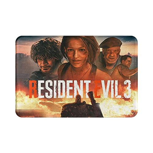 Resi-dent Evil Heavenly Island The Final Chapter Lady Dimitrescu Animated Movies 2 Remake TPS Game 3D Door Mat Floor Mat Anti-Rutsch item Washable Bedroom Patio