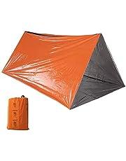Lixada أنبوب طوارئ خيمة البقاء على قيد الحياة برتقالي مأوى إنقاذ التخييم خيمة فيلم الألومنيوم حقيبة النوم