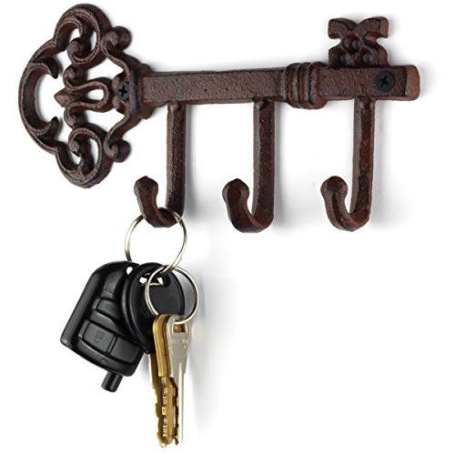 LULIND - Wall Mounted Rustic Key Holder (Vintage Cast Iron)