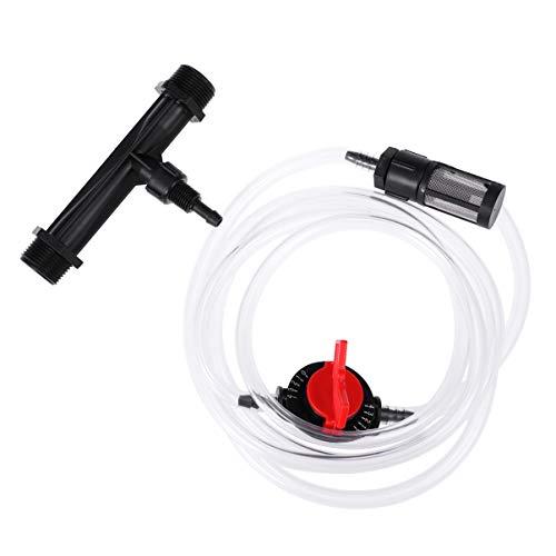 Doitool 1 Unid 3/4 Dispositivo de Riego de Jardín Interruptor de Inyector de Fertilizante Venturi Kit de Tubo de Agua