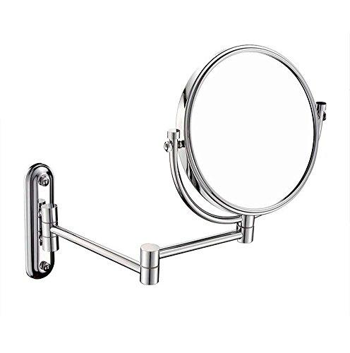 Lzw Espejo para baño Espejo de Maquillaje de Doble Cara, 8 Pulgadas, 3X, 5X, 7X, Aumento de 10X / 1X, vanidad, Espejo Giratorio de Aumento, para baño, SPA y Hotel (Color : 5X)