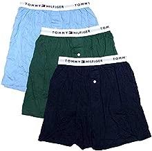 Tommy Hilfiger Men's Underwear 3 Pack Cotton Classics Knit Boxers, Garden, Medium