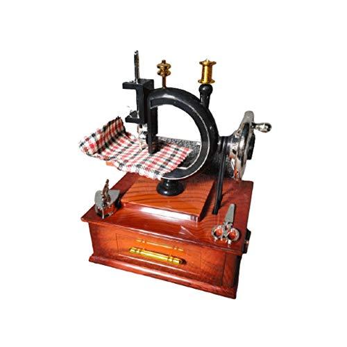 ZAZA Caja de Musica Máquina de Coser de la Mano de la Vendimia Modelo de música Caja de música Adornos de decoración for el hogar for, Adultos o niños Caja de música Duradera