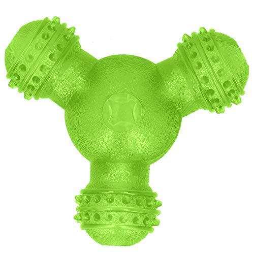 SALUTUYA Automatischer Haustier-Futterspender für Hunde, Zahnreinigungsball, ungiftig, Spielzeug für kleine und mittelgroße Hunde, Grün