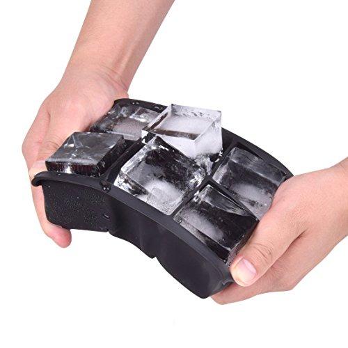 Hanseatic Consumable ijsblokjesvorm, 6-delig, BPA-vrije siliconenvorm, 16,5 x 11,5 x 5,0 cm, elke ijsblokjesvorm 5 x 5 cm groot !