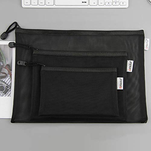 Heng A4 A5 A6 examen papieren zak pen zak transparante mesh rits studentenbureau eenvoudige grote capaciteit papieren zak, A5