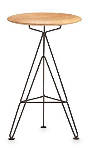 sisman Supersputnik 63 schwarz & Eiche Super Sputnik Hocker Barhocker Sitzschale Deutsche Eiche Metallgestell matt schwarz lackiert Design Ahmet Sismanoglu Eiffelturmgestell Design Universalhocker
