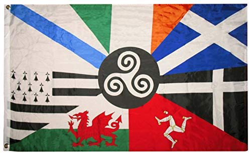 Trade Winds 3x5 European Celtic Nations Flag 3 by 5 Foot Ireland Scotland Wales Brittany Fade Resistant Premium