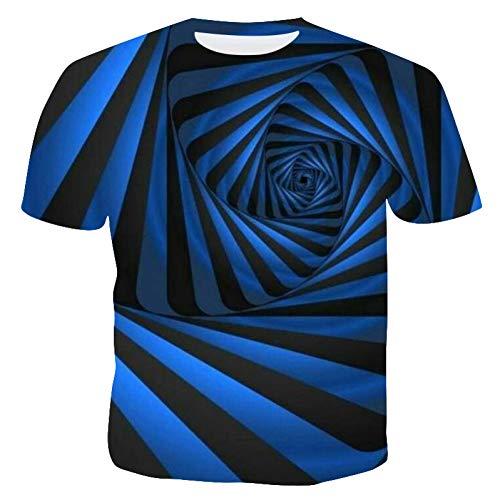 XJWDTX T-Shirt À Manches Courtes pour Hommes Col Rond Impression Numérique 3D Chemise Mince À Bas Section Compatissante