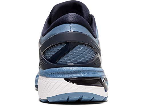 ASICS Men's Gel-Kayano 26 (2E) Running Shoes, 10W, Midnight/Grey Floss 8