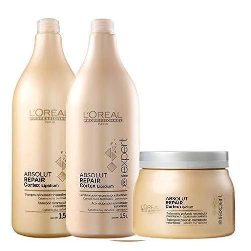 Loreal Professionnel Absolut Repair Lipidium Kit Shampoo 1,5l Condicionador 1,5l Mascara 500g