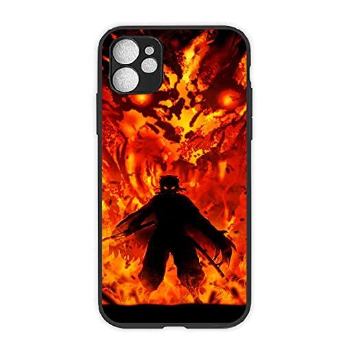 Demon Slayer Funda de Vidrio Templado de Material Anime Kimetsu no Yaiba para iPhone 6 6S 7 8 Plus X XR XS MAX 11 Pro MAX SE 2020 Cubierta Trasera de Dibujos Animados