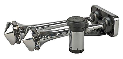 Wolo (418) Powerhouse Roof Mount Dual Trumpet Horns - 12 Volt