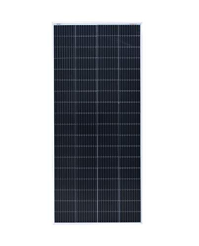 enjoysolar®Pannello solare monocristallino da 36 V modulo solare ideale per impianto fotovoltaico da giardino camper caravan 24V (Mono 200W 36V)