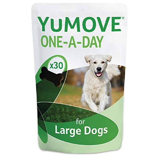 Lintbells | YuMOVE ONE-A-DAY Large Chewies for Dogs | Essential Hip and Joint Supplement for Stiff Dogs Aged 7 to 8 | 30 Chews - 1 Month supply