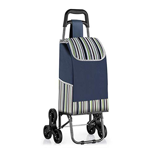 Z-SEAT Leichter Einkaufswagen mit leisen Gummi-Dreirädern und Abnehmbarer Tasche Tragbarer wasserdichter zusammenklappbarer Einkaufswagen Einfache Aufbewahrung