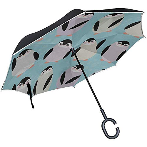 ETGeed Inverted Inverted Umbrella Cartoon Nette Schaukel Tanzen Pinguin Umbrella Reverse Folding