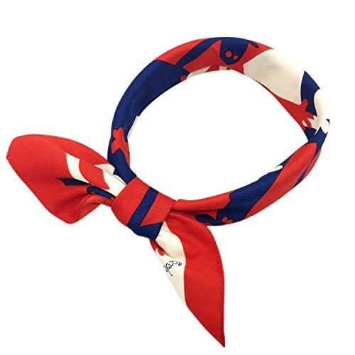 YOUR SMILE Silk Like Scarf Women's Fashion Pattern Large Square Satin Headscarf Headdress 24''x24'' (101)