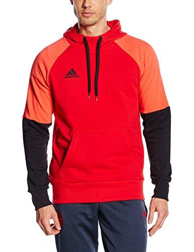 adidas Erwachsene Kapuzensweat Con16 Hoody Kapuzensweatshirt, Scarlet/Black/Bright red, XXXL