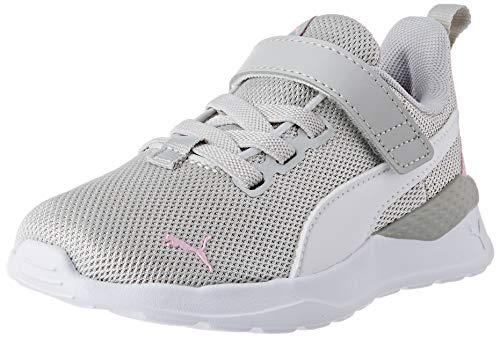 PUMA Mädchen Anzarun Lite Metallic Ac Ps Sneaker, Grau Violett Weiß Hellrosa, 30.5 EU