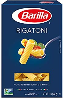 Barilla Pasta, Rigatoni, 16 Ounce (Pack of 12)