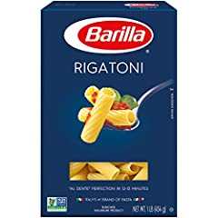 Wide ridged pasta that captures flavor as well as chunks of sauce Cooks in 10 minutes Pairs well with chunky sauces as the large shape can carry these Good source of thiamin, folic acid, iron, riboflavin and niacin Product of USA, Kosher certified