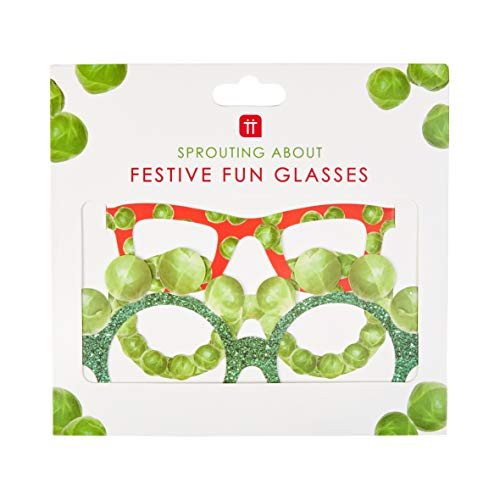 Talking Tables Pack of 5 Christmas Paper Sprout Novelty Glasses-Ideal Photobooth Props for Xmas Selfies