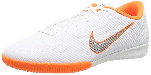 Nike Mercurial Vapor 12 Academy IC, Zapatillas de Fútbol Hombre, Blanco (White/Chrome-Total O 107), 47.5 EU