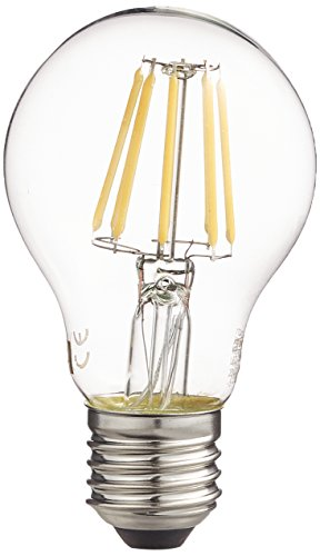 Les emos z74271 A + +, LED Ampoule Filament A60, verre, 8 W, E27, transparent, 6,5 x 6,5 x 13 cm