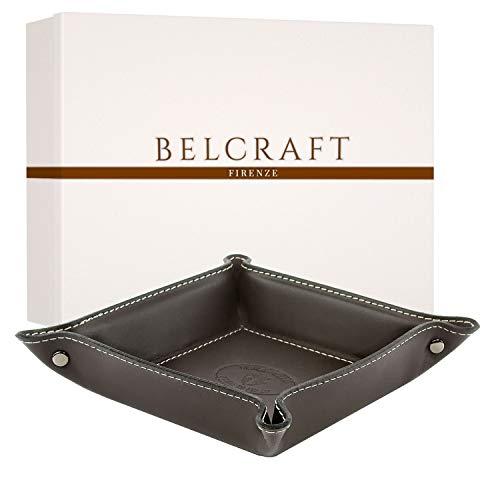 Belcraft Orvieto Svuotatasche in Pelle, Realizzato a Mano da Artigiani Toscani, Porta Oggetti, Testa di Moro (19x19 cm)