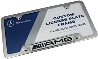 Mercedes Benz AMG Logo Chrome Frame, Stainless Steel