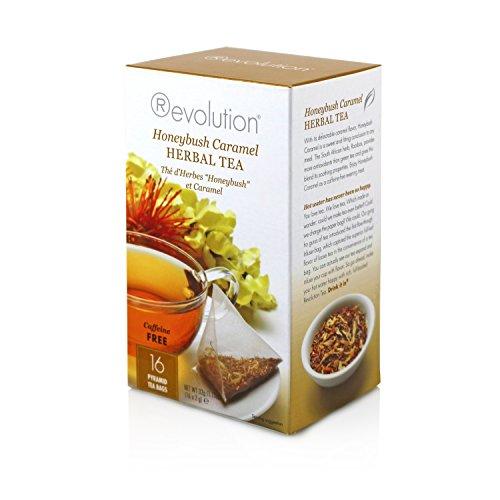 Revolution Tea - Honeybush Caramel Herbal Tea | Premium Full Leaf Infuser Stringless Teabags - Antioxidant Rich (16 Bags)