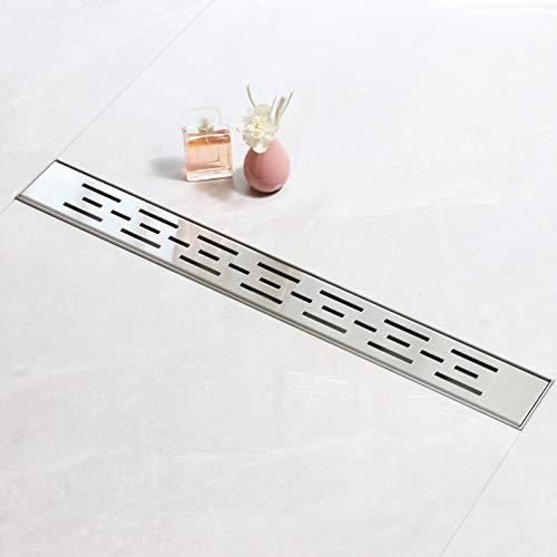 SaniteModarDuschrinne 360° Siphon mit GeruchsstopundHaarfilter,Bodenablauf, GrößederBodeninstallationist70cm,Badezimmer Duschablauf sehr flach, linear, Komplettset