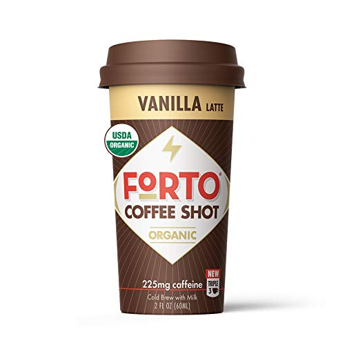 FORTO Coffee Shots  Vanilla Latte ReadytoDrink on the go Cold Brew Coffee Shot  Fast Coffee Energy Boost 2 Fl Oz Pack of 6