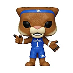 From University of Kentucky, WILDCAT, as a stylized Pop! Stylized collectable stands 3 ¾ inches tall, perfect for any University of Kentucky fan! Collect and display all University of Kentucky POP! Vinyls!