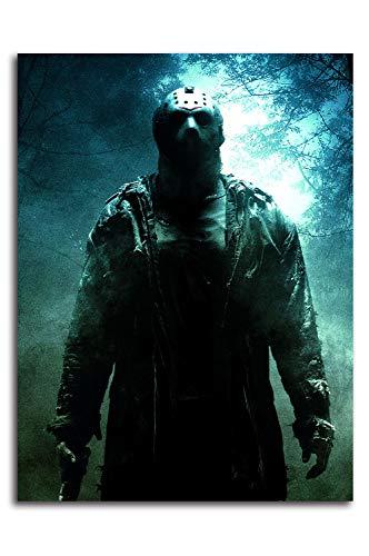 Aryago Friday the 13th (2009) - Stampa su tela, decorazione da parete, 45,7 x 61 cm, motivo: film horror, Jason, decorazione per la casa, senza cornice/incorniciabile