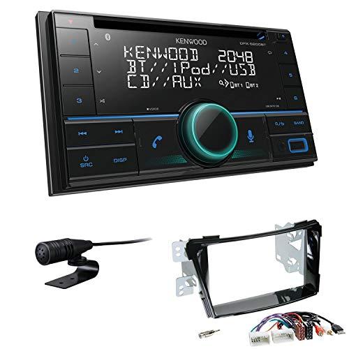 Kenwood DPX-5200BT inkl Einbauset passend für Hyundai i40 Piano Black