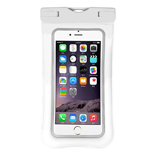 MMYOMI High Universal Aufblasbare schwimmende wasserdichte Hülle mit Lanyard - Beste Wasser Beweis, staubdicht, Snowproof Tasche für iPhone X, 8 Plus, 8, 7 Plus, 7, 6 s, Samsung Galaxy S7, S6 (weiß)