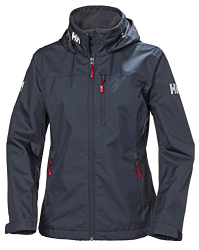 Helly Hansen W Crew Hooded Midlayer Chaqueta Impermeable, Cortavientos y Transpirable, con Capucha, Mujer, Graphite Blue, XS
