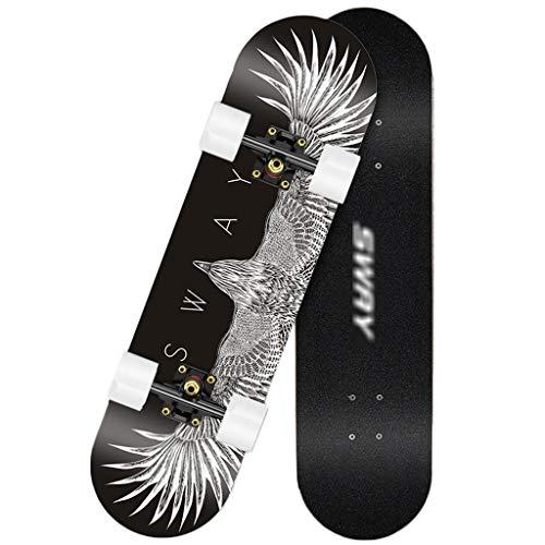 Skateboard 31inx8in Complete Maple Skate Board Houten Longboards voor tieners Volwassenen Beginners Meisjes Jongens Kids