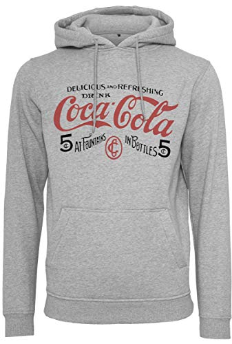 MERCHCODE Old Coca Cola Logo Hoody - Sudadera con Capucha Hombre
