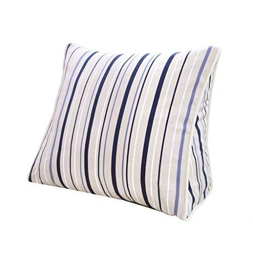 CSQ Oreiller Oreiller rayé, oreiller confortable doux facile à nettoyer salon cinéma chambre oreiller triangle coussin de coton literie (taille : 45 * 40 * 15CM)