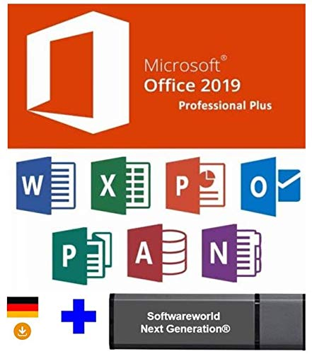 Office Professional Plus 2019 32 /64 bit Produktschlüssel mit USB Memory Stick von Softwareworld – Next Generation®