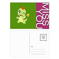 恐竜の王国は、あなたを愛して ポストカードセットサンクスカード郵送側20個ミス