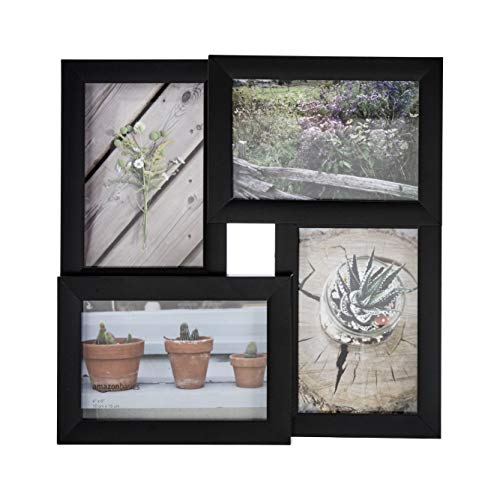 Amazon Basics - Cornice per 4 fotografie, 10 x 15 cm, nero